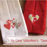 Tutorial Tuesday: No Sew Valentine's Towels