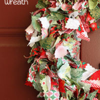 Scrappy Fabric Christmas Wreath