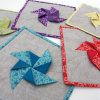 Spring Pinwheel Potholders and Giveaway