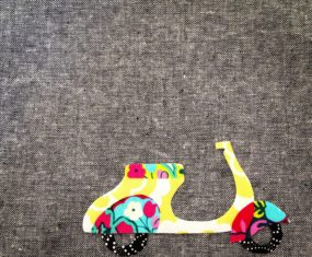 Vroom! Scooter Applique