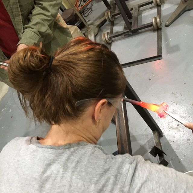 Playing with molten glass tonight! Yes I joined a glasshellip